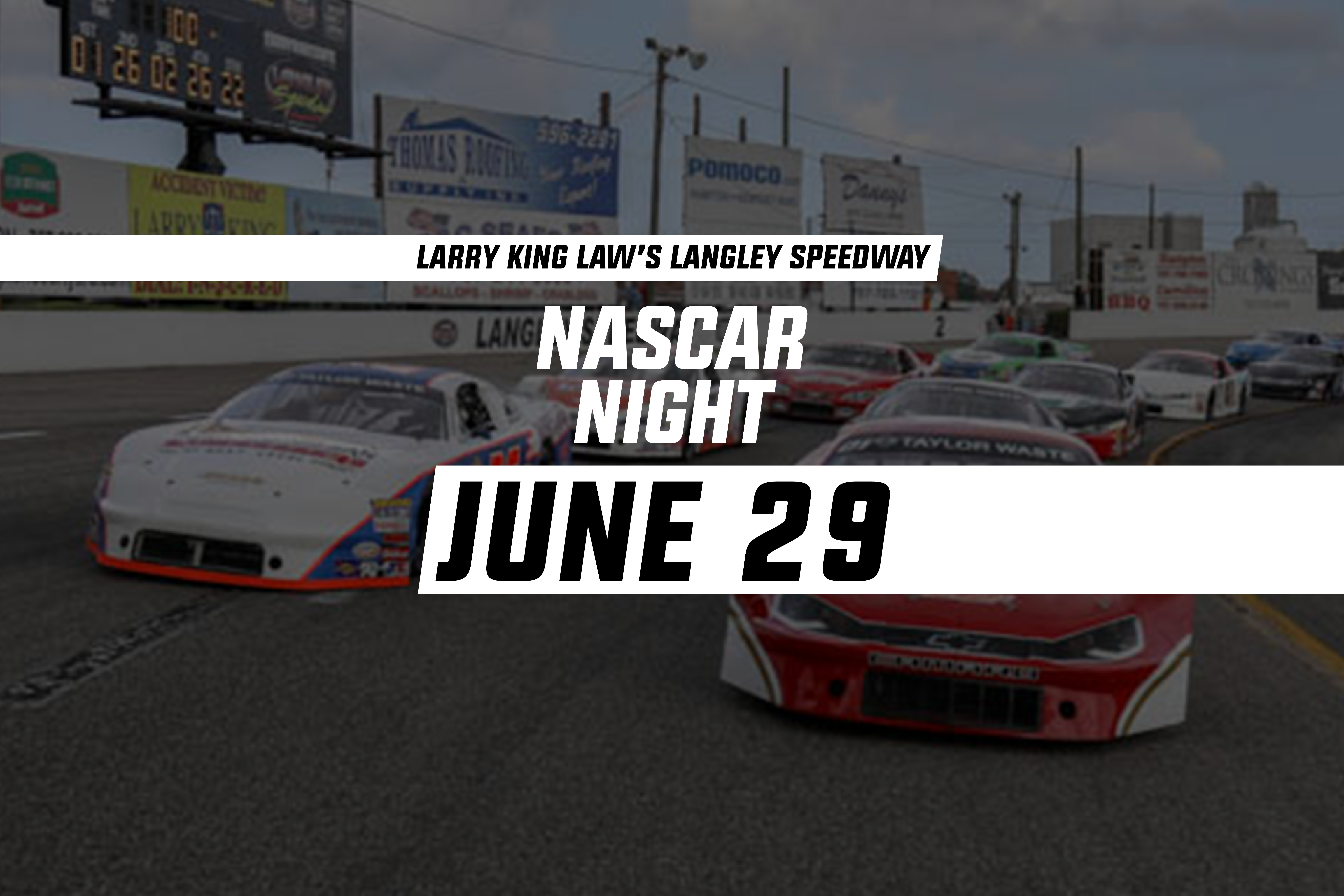 Nascar Night Race Day Schedule Larry King Law S Langley Speedway